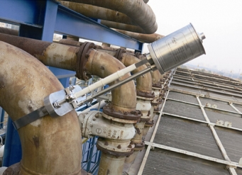 Pipeline on-line ultrasonic thickness measurement system